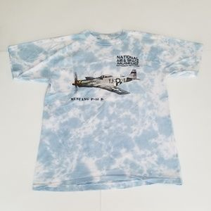 Vintage | 90s Smithsonian Institute Tie Dye Clouds